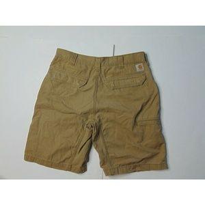 Carhartt 32 x 10 Relaxed Fit Khaki Shorts Brown